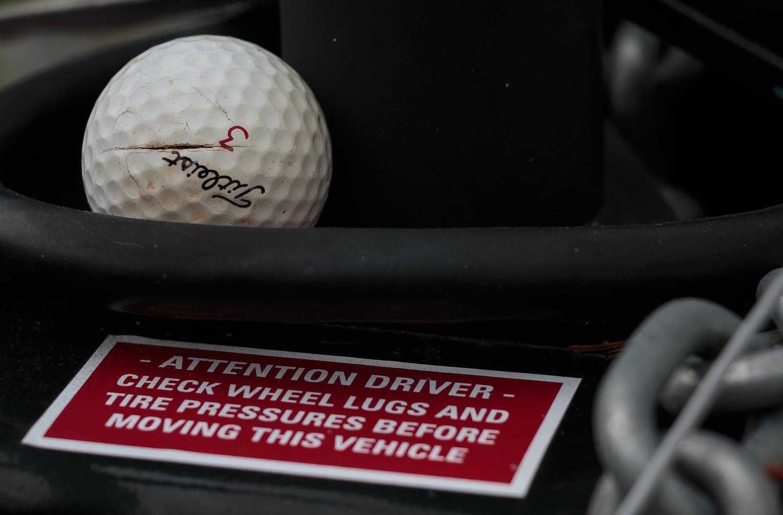 golf ball on RV hitch