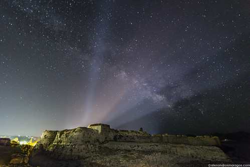 The Milky Way over the Castle of Methoni, Greece
