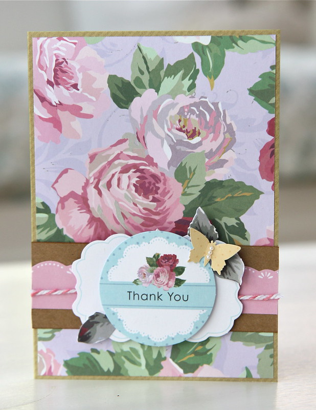 Simply Floral thank you card by StickerKitten