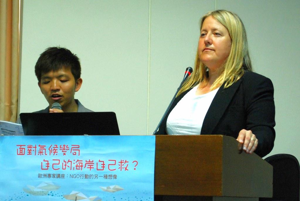 Magdalena AK Muir鼓勵台灣加入綠色景點計畫,增加環境友善景點的世界能見度。攝影:彭瑞祥。