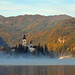 Lake Bled Mist by Atilla2008