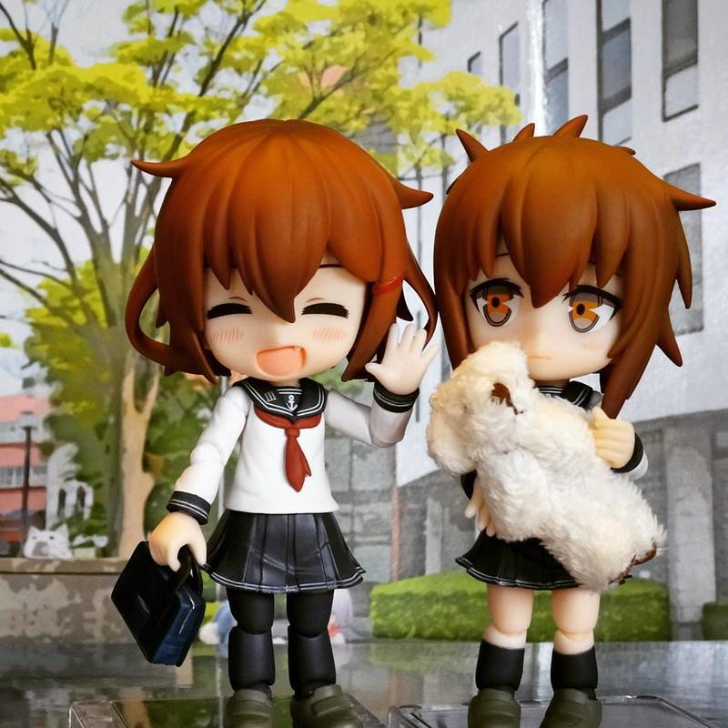 #cupoche #figure #kancolle #inazuma #ikazuchi #艦これ #艦娘 #キューポッシュ #フィギュア #電 #雷