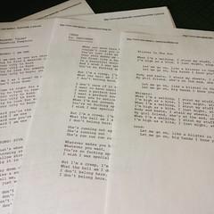 Tabs & sings I was learning in 1997. Looks similar to my #edtechukestra Playlist cc @catspyjamasnz @robynlinkhorn @jlknott