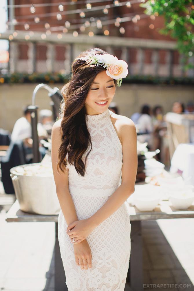 asos white lace dress bridal shower