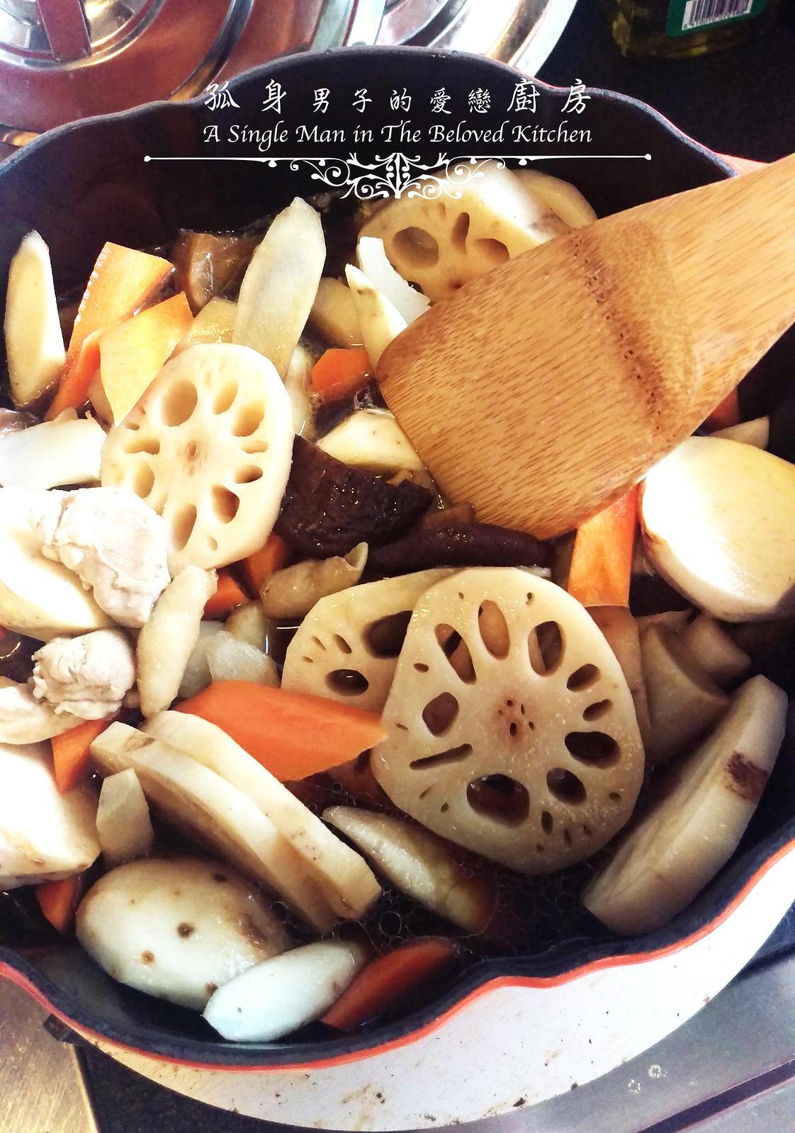 孤身廚房-食譜書《常備菜》試作——筑前煮、醬煮金針菇。甜滋滋溫暖和風味9