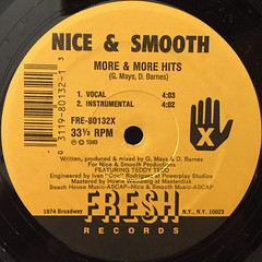 NICE & SMOOTH:MORE & MORE HITS(LABEL SIDE-A)