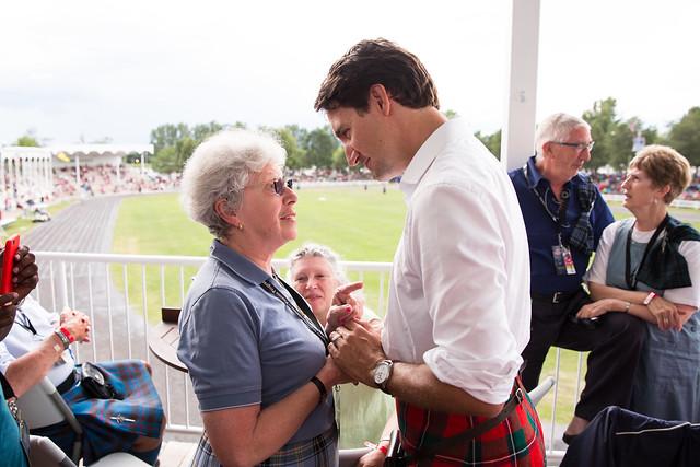 Justin Trudeau à Maxville. 1 août 2015.