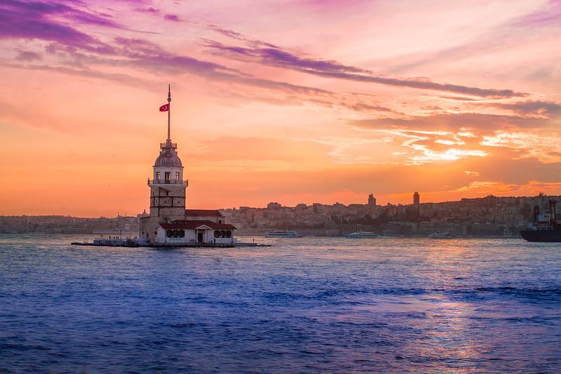 Kiz Kulesi - Wieża Leandra - Sunset in Istanbul