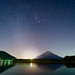 Fuji Mountain and the Quadrantids by 稲垣一志