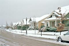 Bridge Street in Snowstorm, Hometown NRH