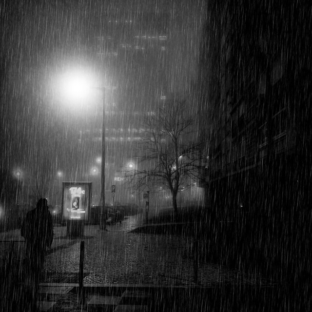 I always like walking in the rain, so no one can see me crying.