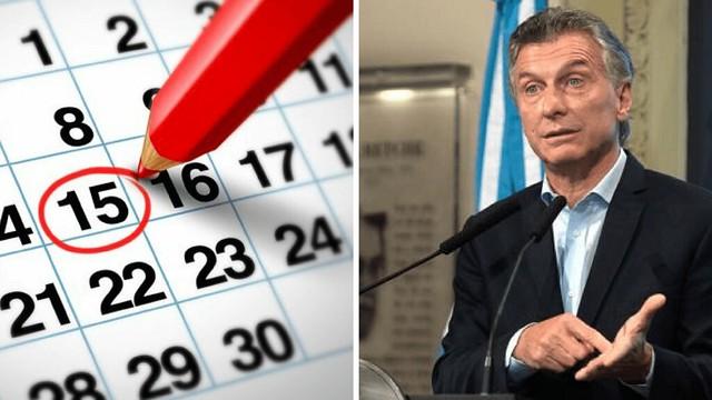 Macri elimina los feriados puntes 2017