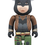 MEDICOM TOY BE@RBRICK 系列【噩夢蝙蝠俠、神力女超人】蝙蝠俠對超人:正義曙光 Knightmare Batman and Wonder Woman