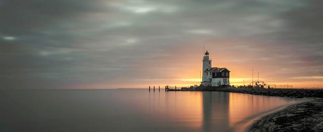 Sunrise near the lighthouse