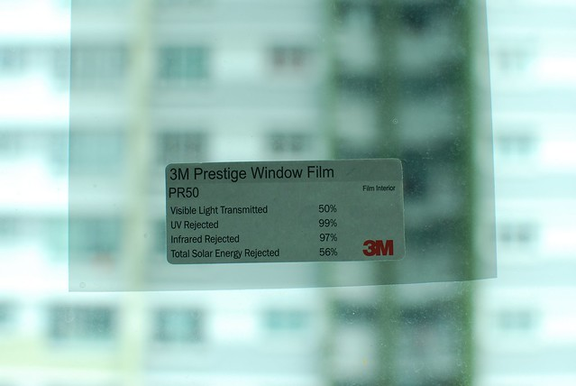 3M Sample films stuck on my window.
