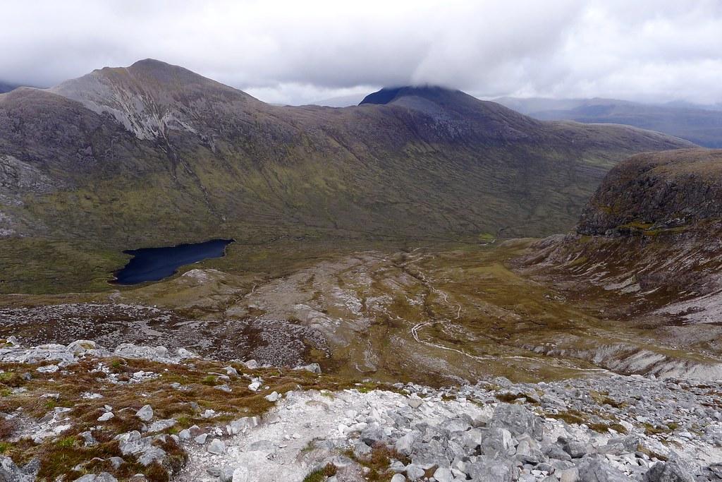 Looking across Coire Fionnaraich