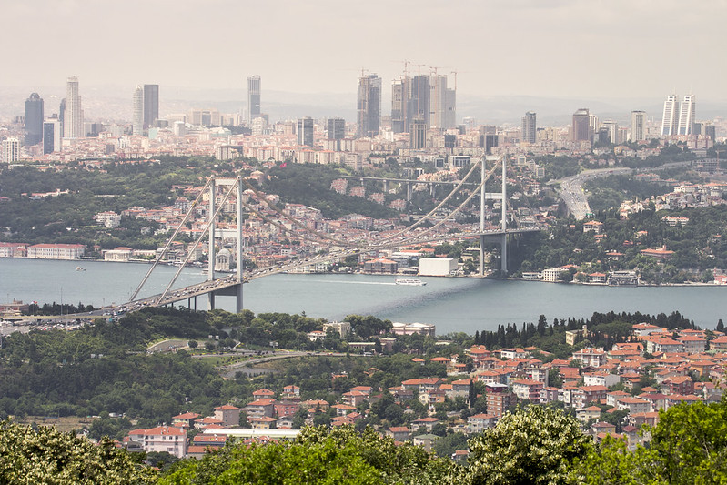 Istanbul cityscape from Camlica Hill, Turkey