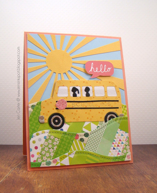 Jen Carter Quilted School Bus Hello 1.2