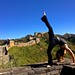 Yoga on the Great Wall