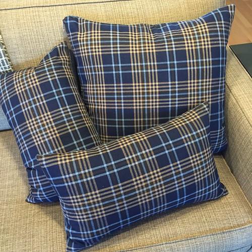 Iron Craft '15 Challenge #14 - Blue Plaid Pillows