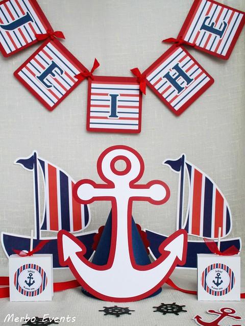 ancla decoración  mesa dulce marinera