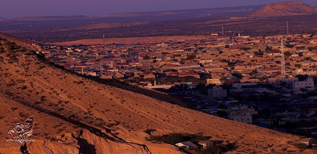 View from the south side of Hargeisa Somaliland.