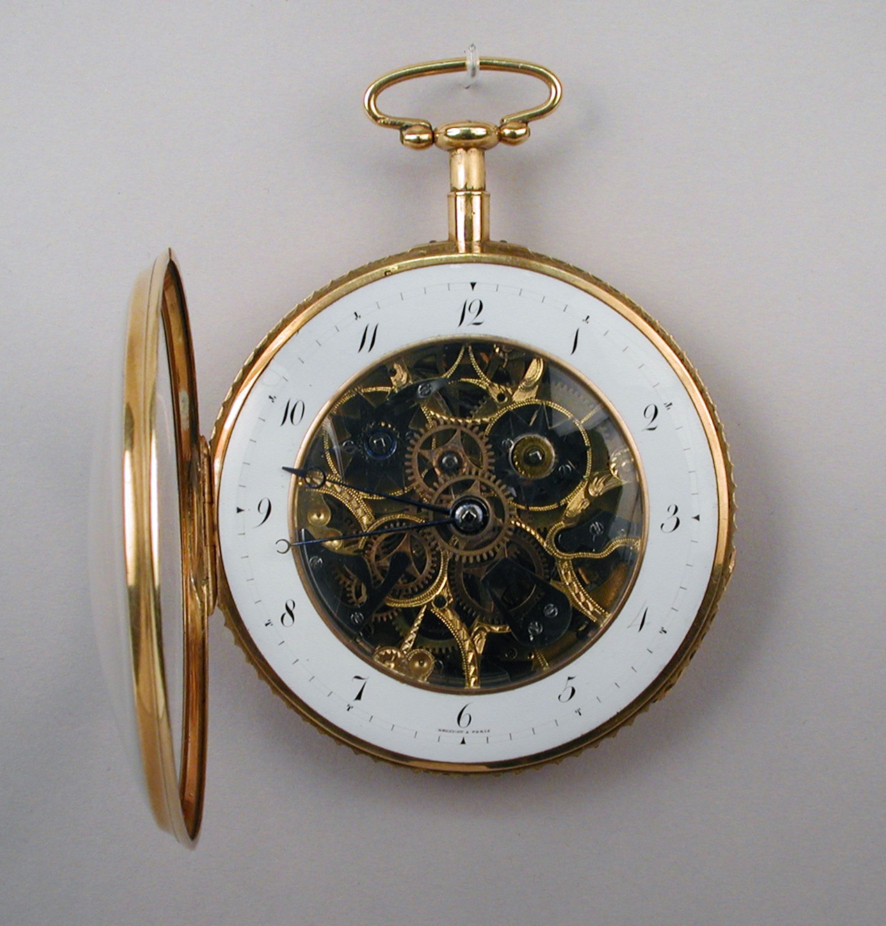 1810. Watch. Swiss, La Chaux-de-Fonds. Gold, glass. metmuseum
