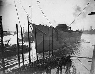 Launch of the cargo ship Empire Scott