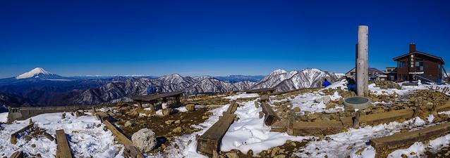 富士山・南アルプス・奥秩父の展望@塔ノ岳