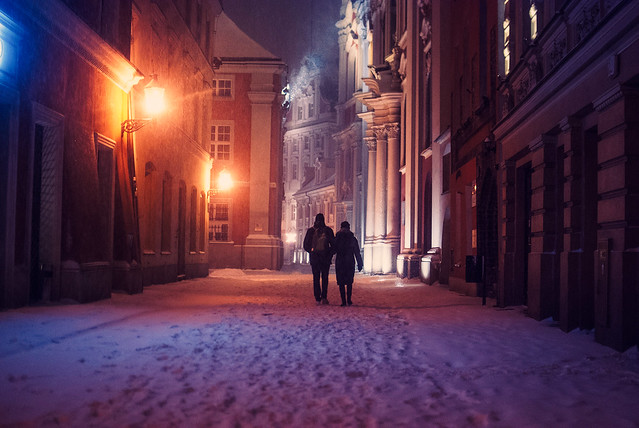 blustery winter evening