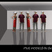 Five Models in shadow by howard kendall by howardkendall42