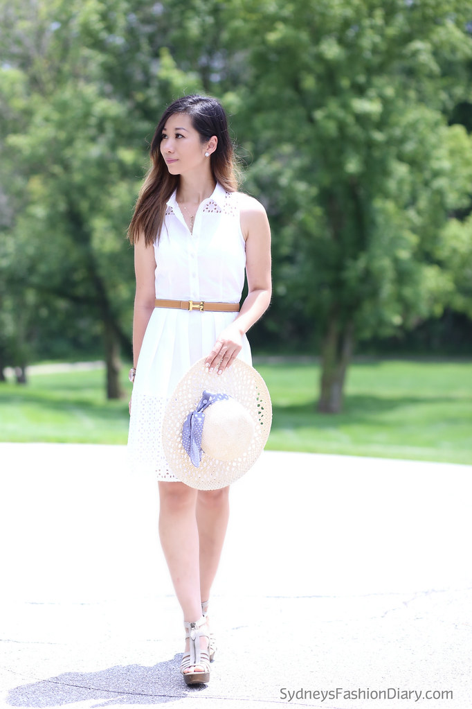WhiteEyeletShirtDress_SydneysFashionDiary