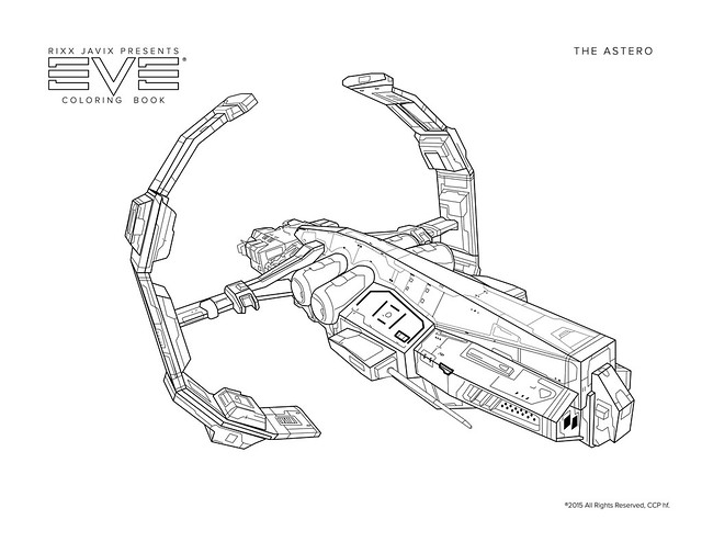 Eve Astero Coloring Page