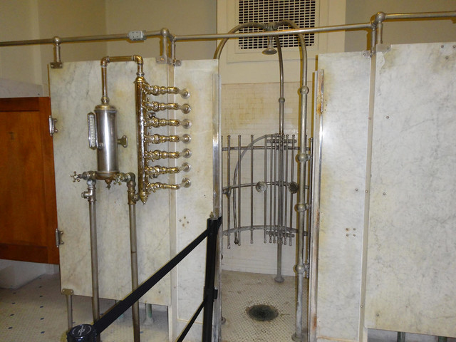 "Fordyce Bathhouse Museum, Hot Springs, AR, ""needle shower"""