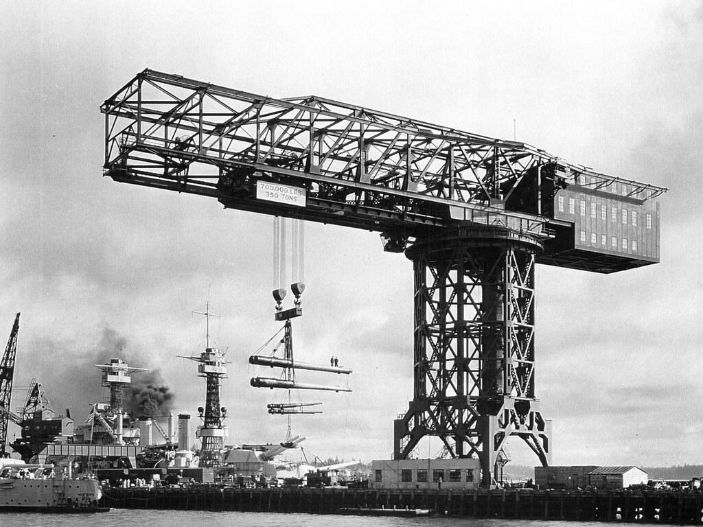 Load Test on Hammerhead Crane 1933