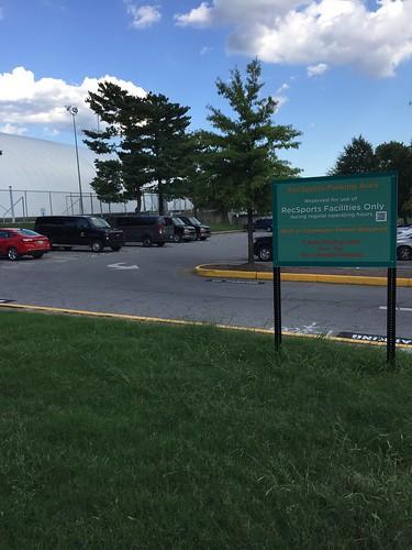 Rec Center parking