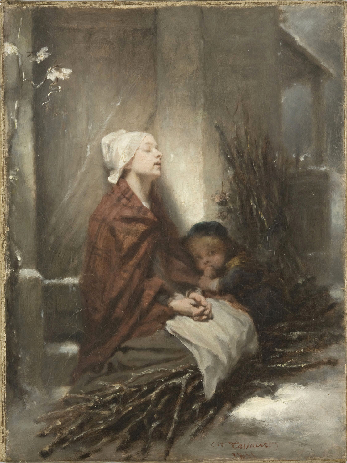 The Forlorn (Poor Children) by Octave Tassaert - 1855
