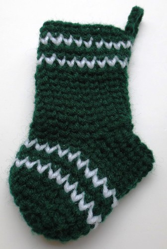 Waistcoat Crochet Mini Christmas Stocking