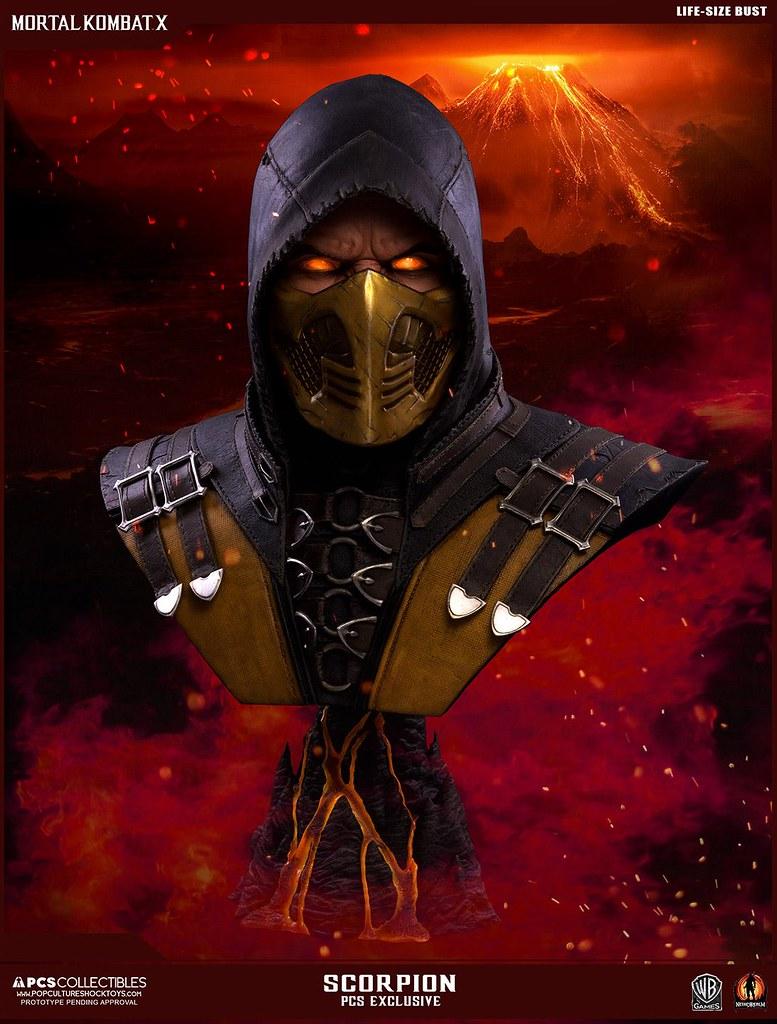 Get Over Here!!!《真人快打X》魔蠍 1:1比例胸像 Mortal Kombat X Scorpion Life Size Bust