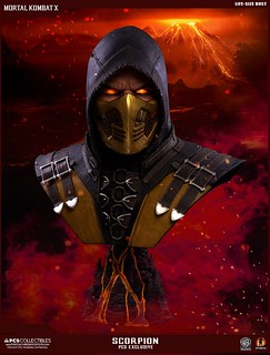 Get Over Here!!!《真人快打X》魔蠍 1:1比例胸像 Mortal Kombat X Scorpion Life Size Bust