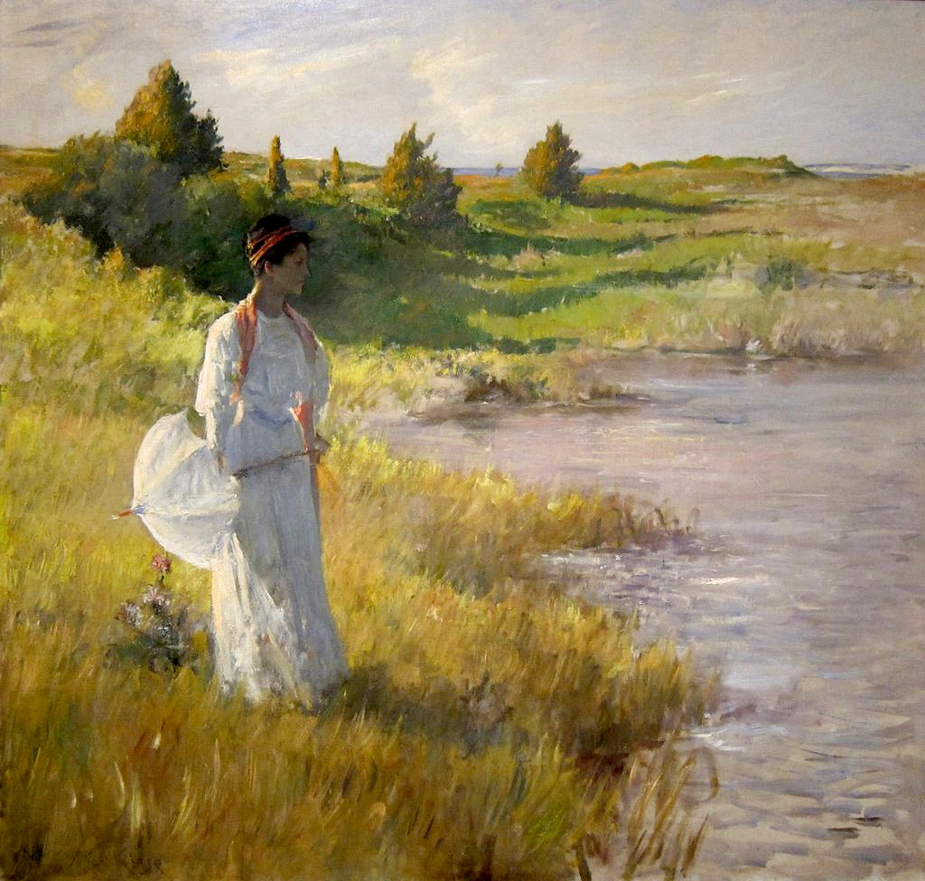 An Afternoon Stroll by William Merritt Chase, 1895