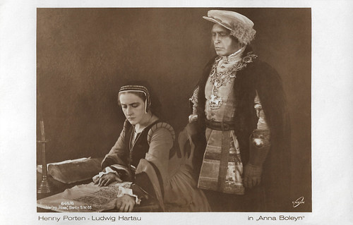 Henny Porten and Ludwig Hartau in Anna Boleyn