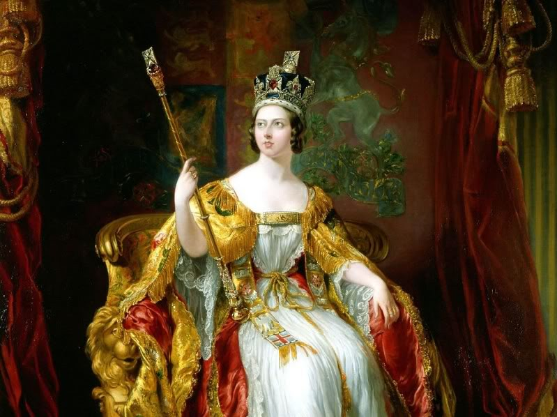 Queen Victoria in her coronation robes, by Sir George Hayter
