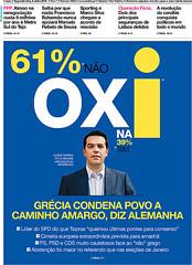Capa Jornal i - 07-07-2015