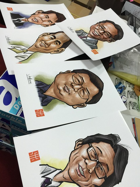 Digital caricatures for Singapore Institute of Architects