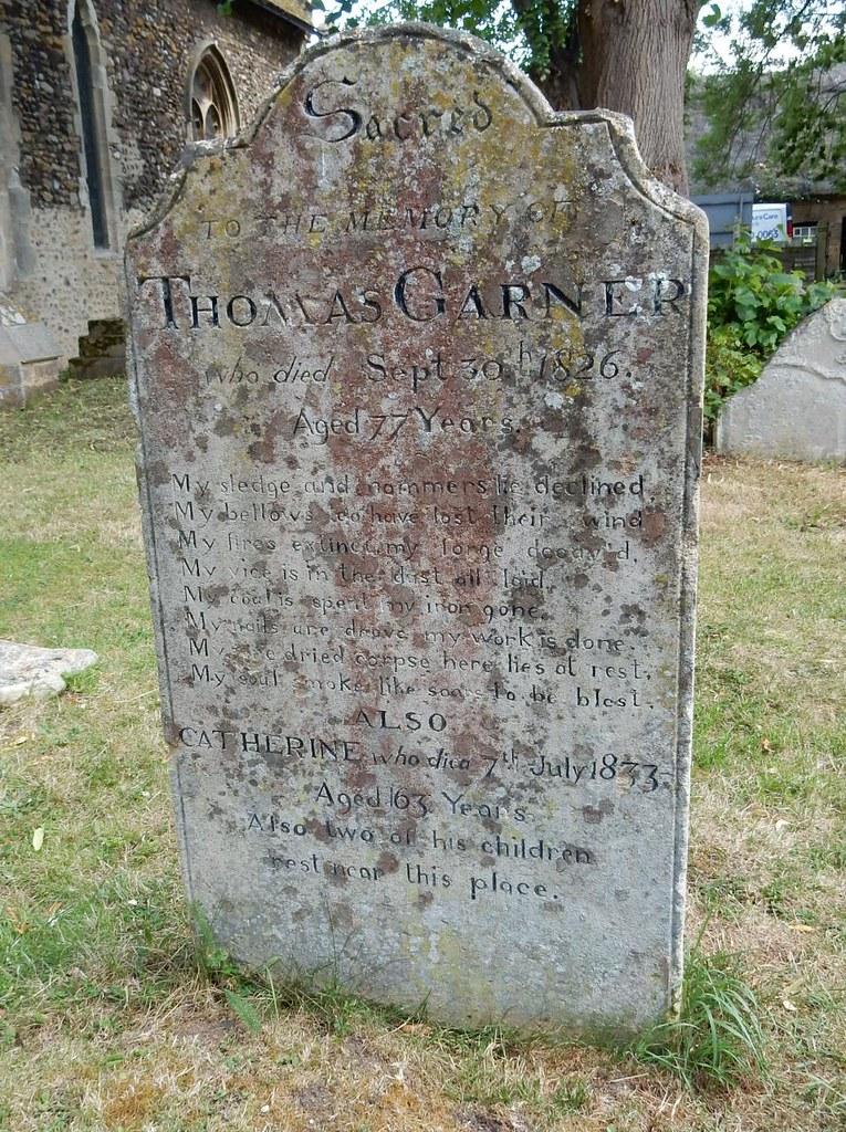 Blacksmith's epitaph Huntingdon Circular (long)