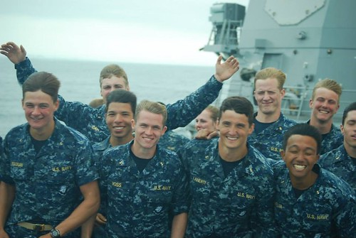 USS Wayne E. Meyer Hosts U.S. Naval Academy Midshipmen