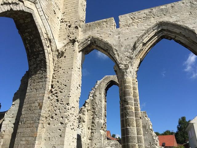 Ruinas de una iglesia destruida durante la I Guerra Mundial (Saint Nazaire, Norte de Francia)