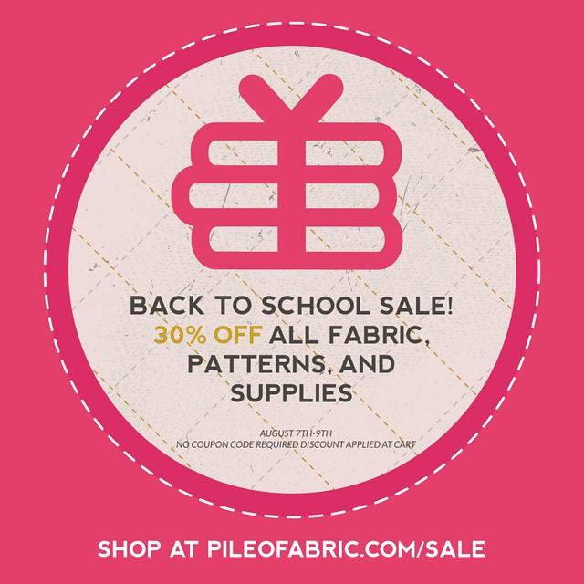 Pile O' Fabric SALE!!