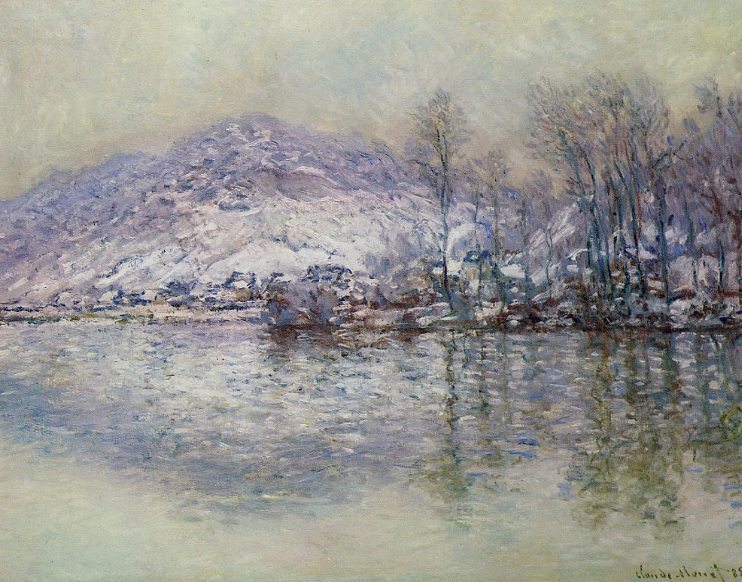The Seine at Port Villez, Snow Effect by Claude Oscar Monet - 1885